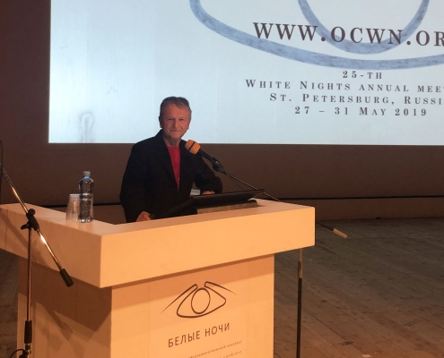 White Nights International Ophtalmology Congress: Lucio Buratto ospite d'onore a San Pietroburgo